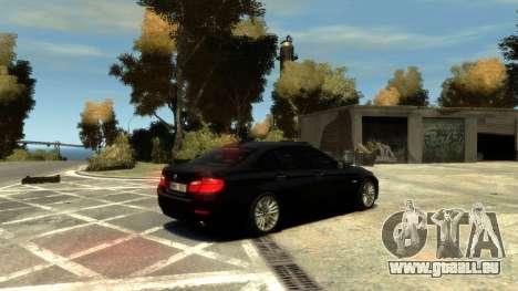 BMW 525 F10 für GTA 4 Innenansicht