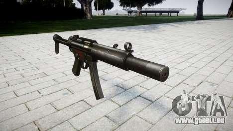 Pistolet MP5SD RO FS pour GTA 4