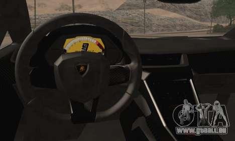 Lamborghini Veneno LP750-4 White Black 2014 HQLM für GTA San Andreas zurück linke Ansicht