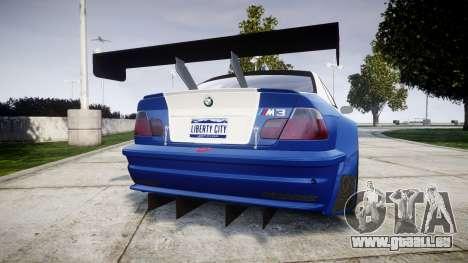 BMW M3 E46 GTR Most Wanted plate Liberty City pour GTA 4 Vue arrière de la gauche