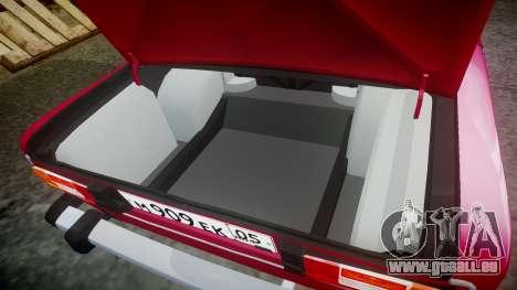 VAZ-21067 pour GTA 4 vue de dessus