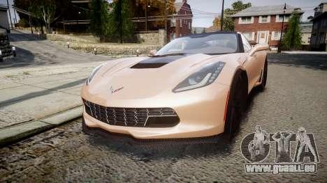 Chevrolet Corvette Z06 2015 TireBr2 pour GTA 4