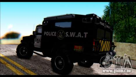 SWAT Enforcer für GTA San Andreas linke Ansicht
