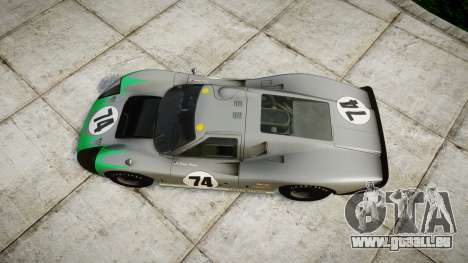 Ford GT40 Mark IV 1967 PJ Arnao Racing 74 pour GTA 4 est un droit