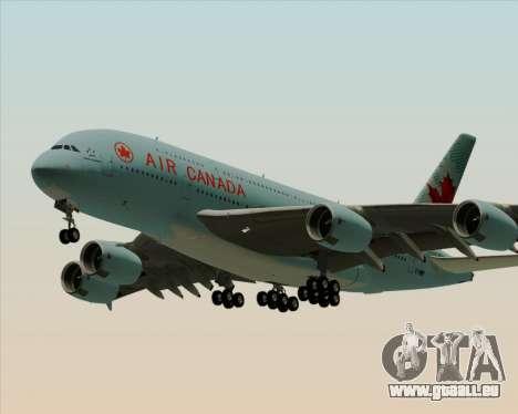 Airbus A380-800 Air Canada pour GTA San Andreas sur la vue arrière gauche