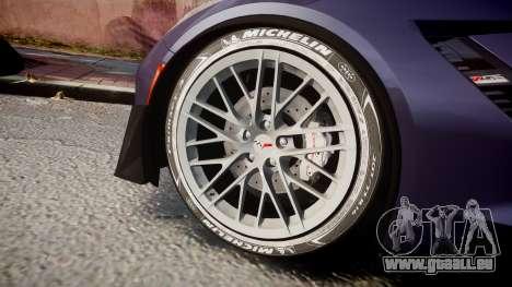 Chevrolet Corvette Z06 2015 TireMi4 pour GTA 4 Vue arrière