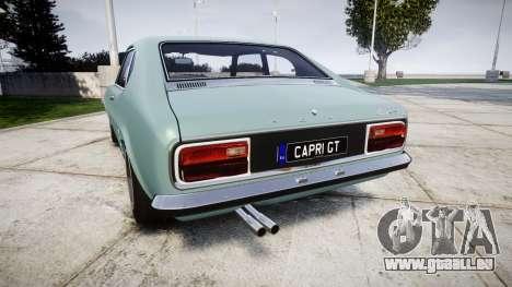 Ford Capri GT Mk1 pour GTA 4 Vue arrière de la gauche