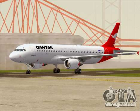 Airbus A320-200 Qantas für GTA San Andreas zurück linke Ansicht