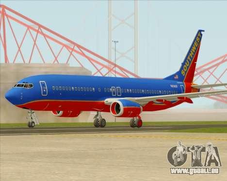 Boeing 737-800 Southwest Airlines für GTA San Andreas Rückansicht