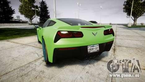 Chevrolet Corvette C7 Stingray 2014 v2.0 TireMi1 für GTA 4 hinten links Ansicht