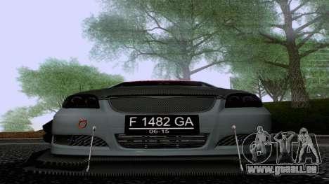 Toyota Vios Extreme Edition pour GTA San Andreas vue intérieure