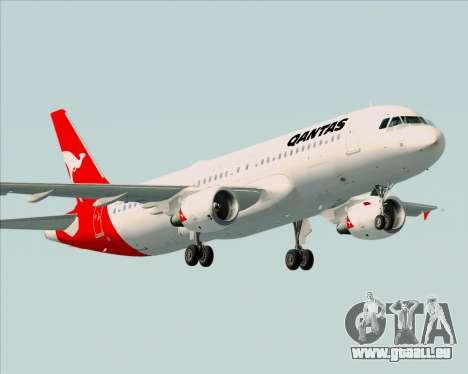 Airbus A320-200 Qantas für GTA San Andreas Innenansicht
