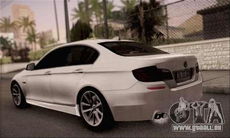 BMW 520d 2012 für GTA San Andreas linke Ansicht