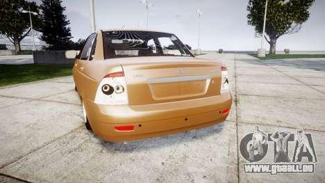 ВАЗ-2170 Installiert Priorin Qualität für GTA 4 hinten links Ansicht