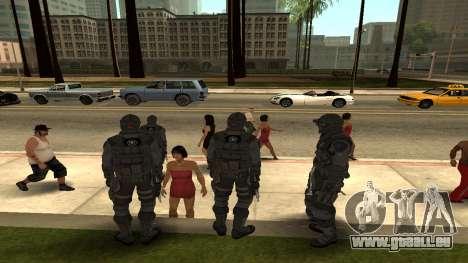 Skin Third Echelon für GTA San Andreas dritten Screenshot