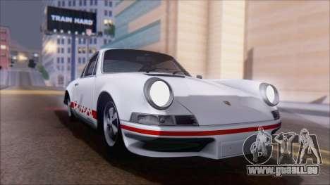 Porsche 911 Carrera 1973 Tunable KIT A für GTA San Andreas rechten Ansicht