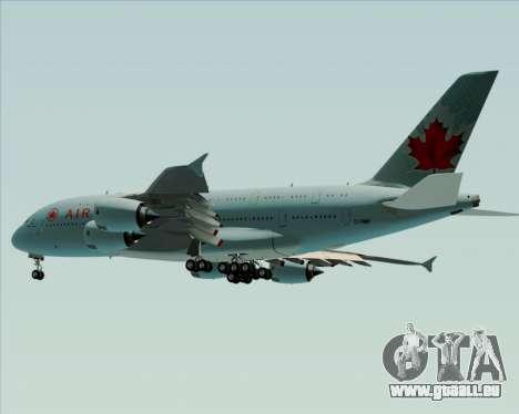 Airbus A380-800 Air Canada pour GTA San Andreas vue intérieure
