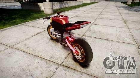 Yamaha YZF-R6 Stunt für GTA 4 hinten links Ansicht