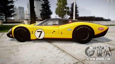 Ford GT40 Mark IV 1967 PJ Fernando Pedace 7 pour GTA 4 est une gauche