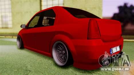Dacia Logan Kys pour GTA San Andreas laissé vue