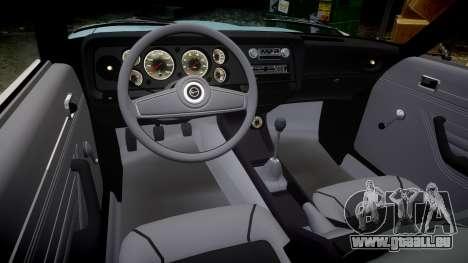 Ford Capri GT Mk1 für GTA 4 Innenansicht