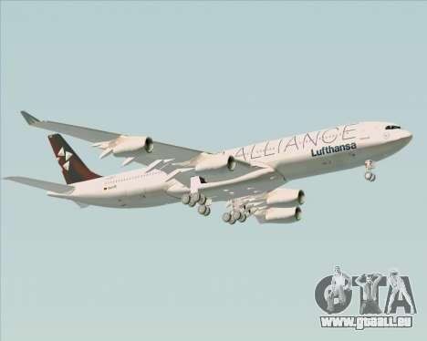 Airbus A340-300 Lufthansa (Star Alliance Livery) für GTA San Andreas obere Ansicht
