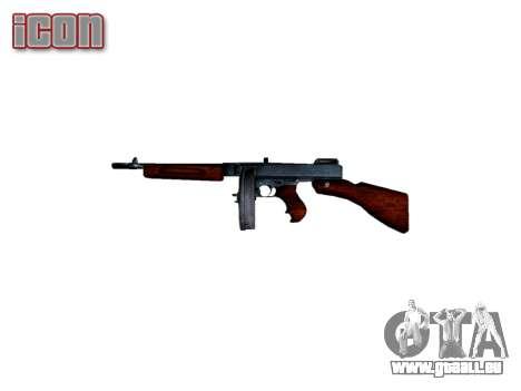 Pistolet mitrailleur Thompson M1A1 tambour icon2 pour GTA 4 troisième écran