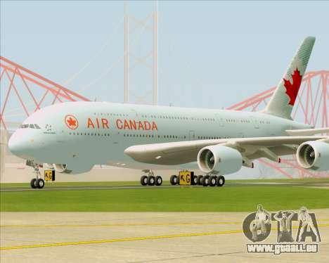 Airbus A380-800 Air Canada für GTA San Andreas linke Ansicht