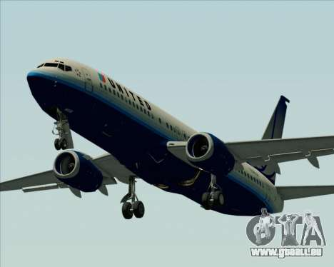 Boeing 737-800 United Airlines für GTA San Andreas obere Ansicht