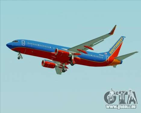 Boeing 737-800 Southwest Airlines für GTA San Andreas Räder
