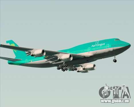 Boeing 747-400 Aer Lingus für GTA San Andreas zurück linke Ansicht