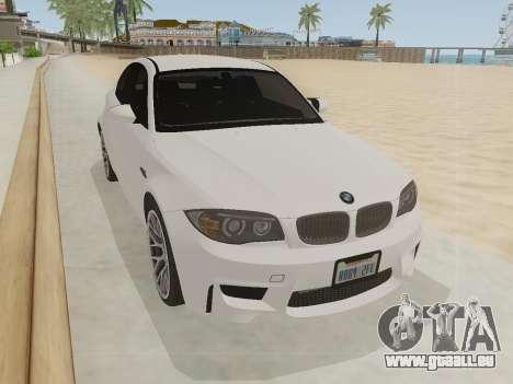 BMW 1M 2011 pour GTA San Andreas vue de droite