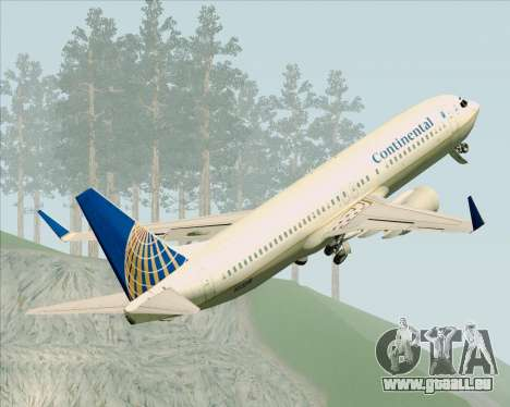 Boeing 737-800 Continental Airlines für GTA San Andreas