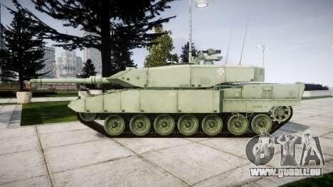 Leopard 2A7 PT Green pour GTA 4 est une gauche