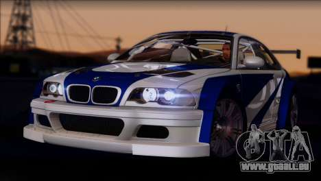 BMW M3 E46 GTR pour GTA San Andreas vue arrière