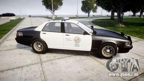 GTA V Vapid Police Cruiser Rotor für GTA 4 linke Ansicht