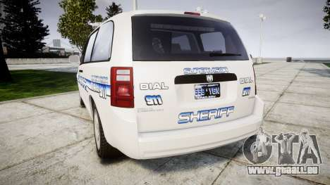 Dodge Grand Caravan [ELS] Liberty County Sheriff für GTA 4 hinten links Ansicht