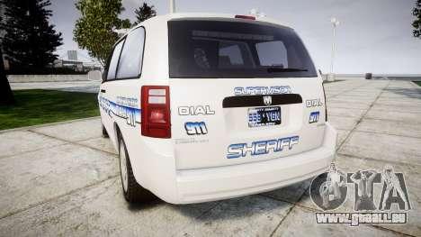 Dodge Grand Caravan [ELS] Liberty County Sheriff für GTA 4 hinten links Ansicht
