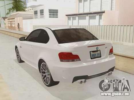 BMW 1M 2011 pour GTA San Andreas vue intérieure