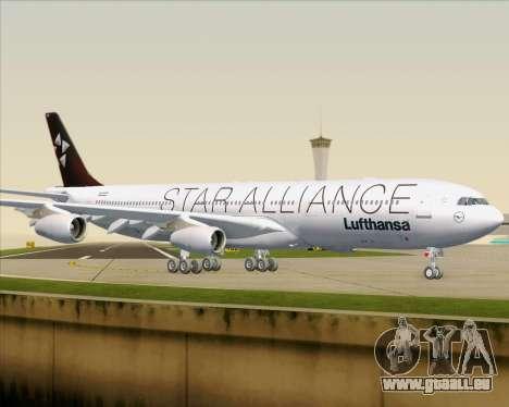Airbus A340-300 Lufthansa (Star Alliance Livery) pour GTA San Andreas vue de dessous