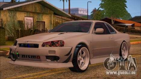 Nissan Skyline R34 GTR V-Spec 2 pour GTA San Andreas