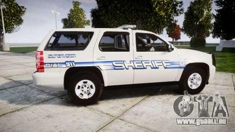 Chevrolet Tahoe [ELS] Liberty County Sheriff für GTA 4 linke Ansicht