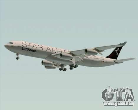 Airbus A340-300 Lufthansa (Star Alliance Livery) für GTA San Andreas zurück linke Ansicht