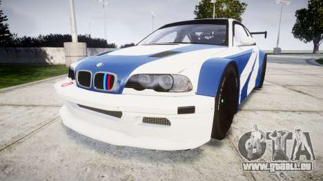 BMW M3 E46 GTR Most Wanted plate Liberty City für GTA 4