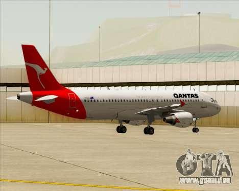 Airbus A320-200 Qantas für GTA San Andreas Rückansicht