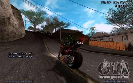 Des graphismes améliorés pour les moyennes et le pour GTA San Andreas troisième écran