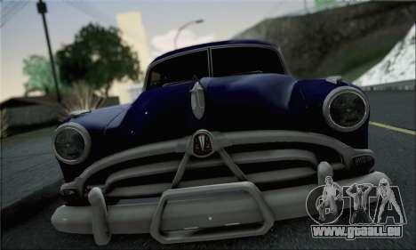 Hudson Hornet 1952 für GTA San Andreas zurück linke Ansicht