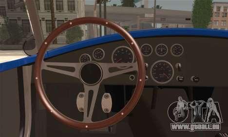 Shelby Cobra V10 TT Black Revel für GTA San Andreas zurück linke Ansicht