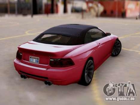 Überlegenheit von Zion Cabrio GTA V für GTA San Andreas linke Ansicht