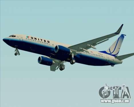 Boeing 737-800 United Airlines für GTA San Andreas Rückansicht